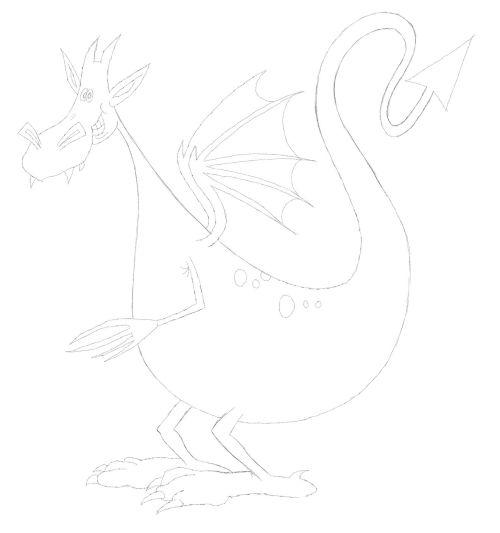 simple dragon drawing